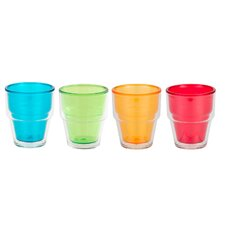 Pint 8 oz. Double-Walled Juice Tumbler (Set of 4)