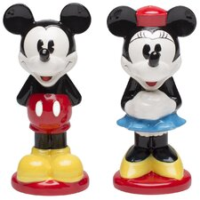 Mickey and Minnie Ceramic Salt and Pepper