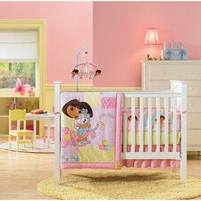 Nickelodeon Dora the Explorer 4 Piece Crib Bedding Set