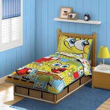 Nickelodeon SpongeBob SquarePants 4 Piece Todder Bedding Set