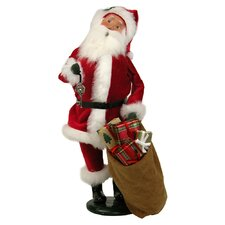 Velvet Santa with Key Figurine