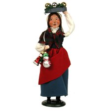 Woman Selling Glass Ornament Figurine