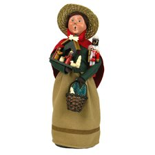 Christmas Market Shopper Figurine