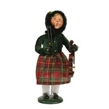 Girl with Musical Instrument Figurine