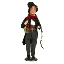 Man with Musical Instrument Figurine