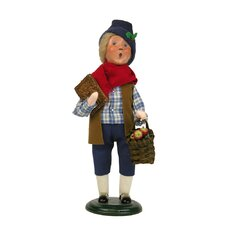 Colonial Shopping Boy Figurine