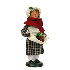 Colonial Shopping Girl Figurine