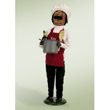 African American 'Kiss The Cook' Chef Figurine