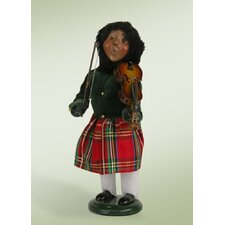 African American Girl with Musical Instrument Figurine