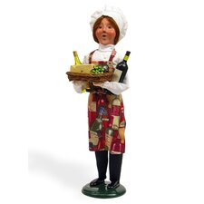 Chef with Wine and Cheese Figurine