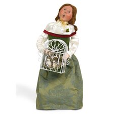12 Days of Christmas: Two Turtledoves Woman Figurine