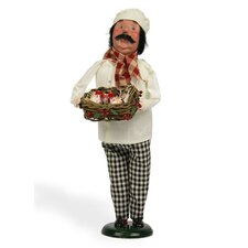 12 Days of Christmas: Three French Hens Chef Figurine