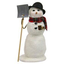 Snowman with Shovel
