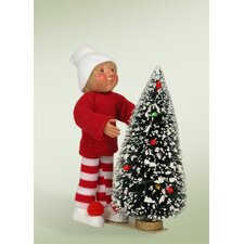 Toddler Decorating Tree Boy Figurine