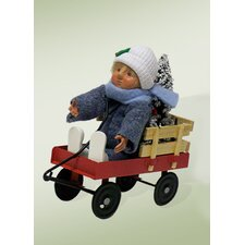 Toddler in Wagon Figurine