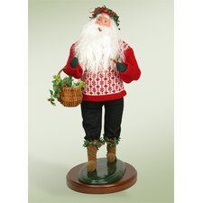 Deck the Halls Santa Figurine