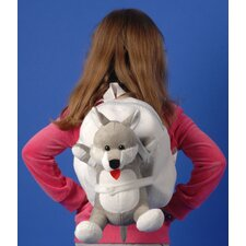 Small Plush Dog Backpack