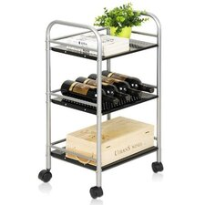 "Xiannan Metal 3-Tray 30"" Rolling Cart"