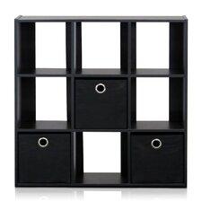 Simplistic 9-Cube Organizer with Bins