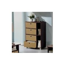 Espresso Living Multipurpose Storage Shelves Cabinet Dresser
