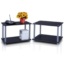 <strong>Furinno</strong> Turn 'n' Tube 2 Tier Shelves/End Table (Set of 2)