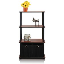 4 Tier Shelf Storage Shelves Cabinet Bookcase