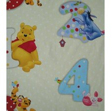 Pooh Numbers Lined Single Curtain