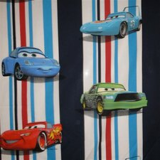 Cars Stripes Lined Single Curtain