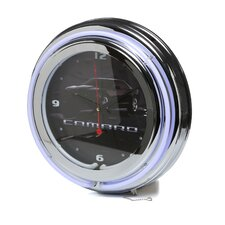 "Camaro 14"" Neon Wall Clock in Black"