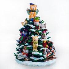 Holiday Cats Lighted Tree Figurine