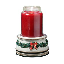 Holiday Treasures Musical Jar Candle Holder