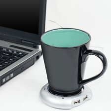 USB Powered Beverage Warmer with Four Port Hub