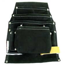 <strong>Trademark Global</strong> Black Professional 10 Pocket Leather Tool Bag Pouch