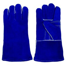 <strong>Trademark Global</strong> 100% Leather Premium Blue Welding Glove