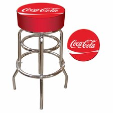 "Coca Cola 30"" Pub Bar Stool with Cushion"