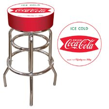 "Coca Cola 30"" Vintage Coke Pub Bar Stool with Cushion"