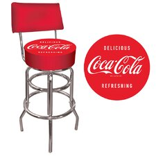 <strong>Trademark Global</strong> Coca Cola Vintage Pub Bar Stool with Cushion