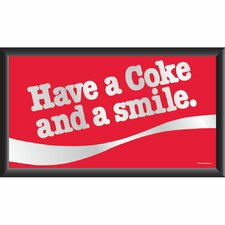 Coca Cola Have a Coke and A Smile Framed Vintage Advertisement