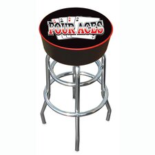 "30"" Four Aces Logo Padded Bar Stool"