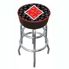 "30"" Four Aces Diamond Logo Padded Bar Stool"