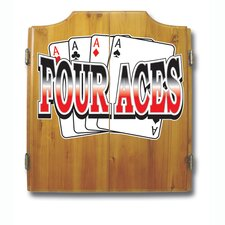 Four Aces Dart Cabinet Set
