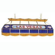Las Vegas Stained Glass Pool Table Light