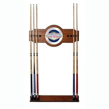 Las Vegas 2-Piece Wood and Mirror Wall Cue Rack