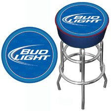 "<strong>Trademark Global</strong> 30"" Bud Light Bar Stool with Cushion"