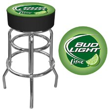 "<strong>Trademark Global</strong> 30"" Bud Light Lime Bar Stool with Cushion"