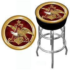 "<strong>Trademark Global</strong> Budweiser 30"" A and Eagle Padded Bar Stool with Cushion"