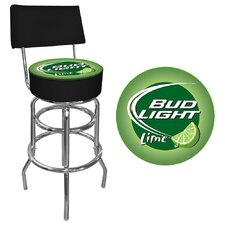 Bud Light Lime Padded Bar Stool with Back