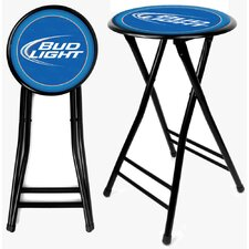 "24"" Bud Light Folding Bar Stool with Cushion"