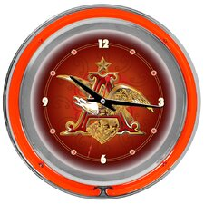Budweiser A and Eagle Neon Wall Clock