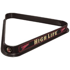 Miller High Life Girl in The Moon Billiard Triangle Rack